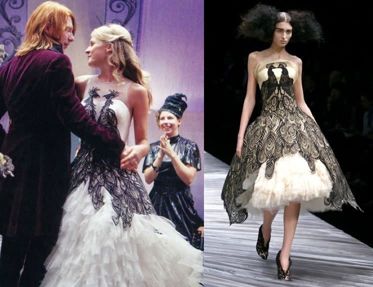 harry potter knocks off alexander mcqueen Fleur Delacour Wedding Dress