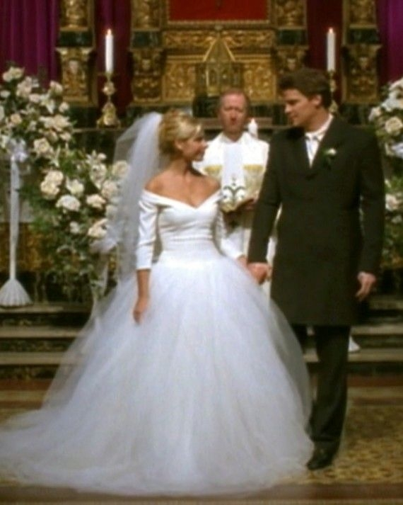 iconic tv wedding dresses that stole the show buffy buffy Buffy Wedding Dress