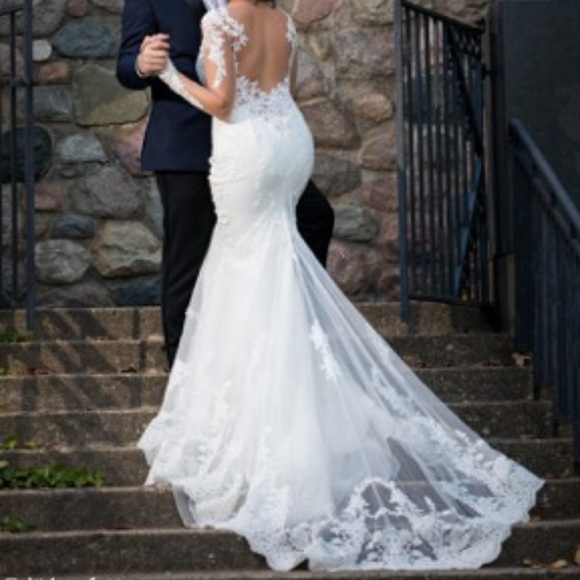 ines di santo wedding dress and veil Ines Di Santo Wedding Dress