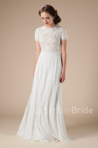 lace modest wedding dresses for the lds bride the charlize Lds Wedding Dress