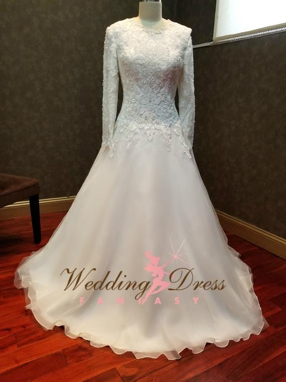 modest wedding dress with sleeves kallah gown lds wedding dress mormon wedding dress modest bridal gown Lds Wedding Dress