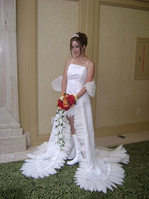 pin on im a nerdso what Yuna Wedding Dress