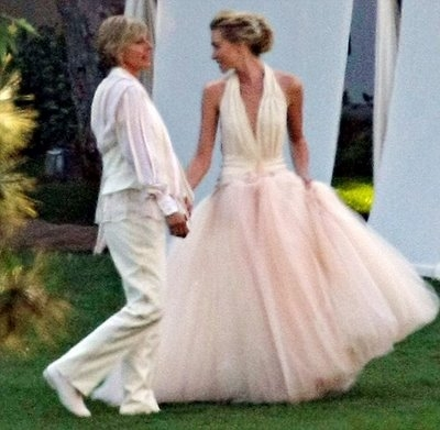 portia de rossi best celebrity wedding dresses of 2008the Portia Wedding Dress