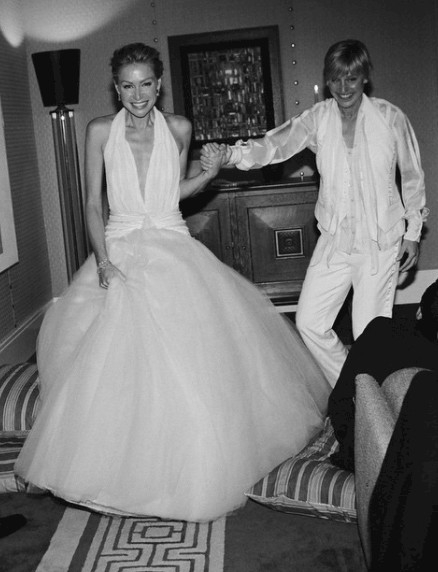 portia de rossi the most daring celebrity wedding dresses Portia Wedding Dress