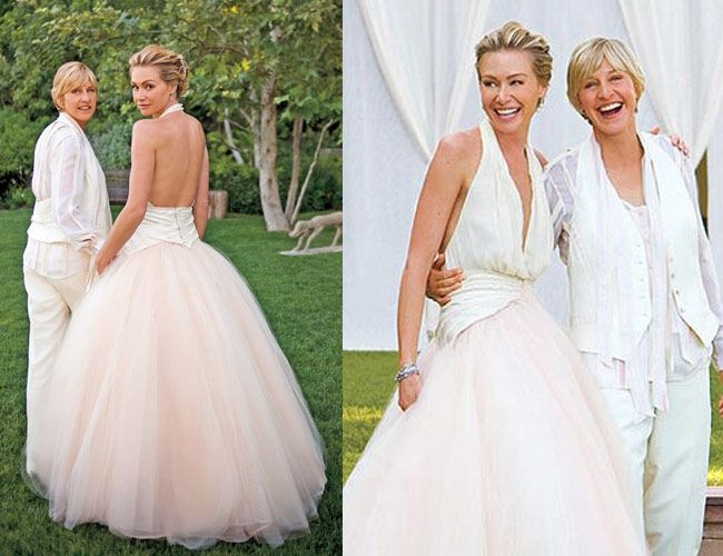 portias wedding dress ellen degeneres wedding wedding Portia Wedding Dress
