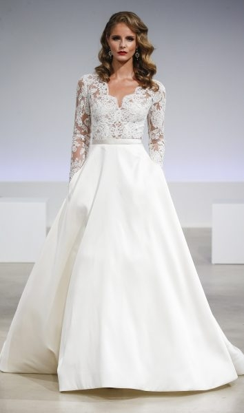 romantic a line wedding dress Anne Barge Wedding Dresses