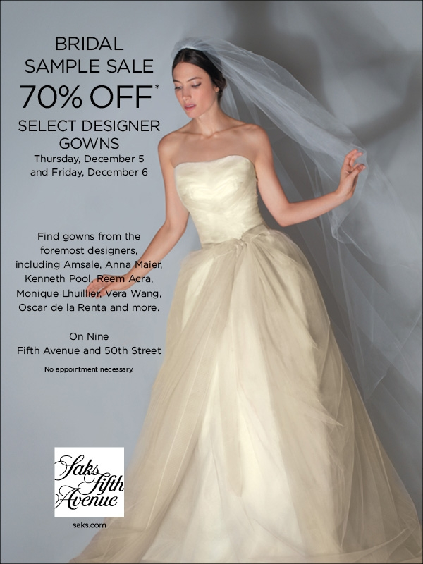 saks 5th ave bridal sample sale nyc aylee bits Sample Sale Wedding Dresses Nyc