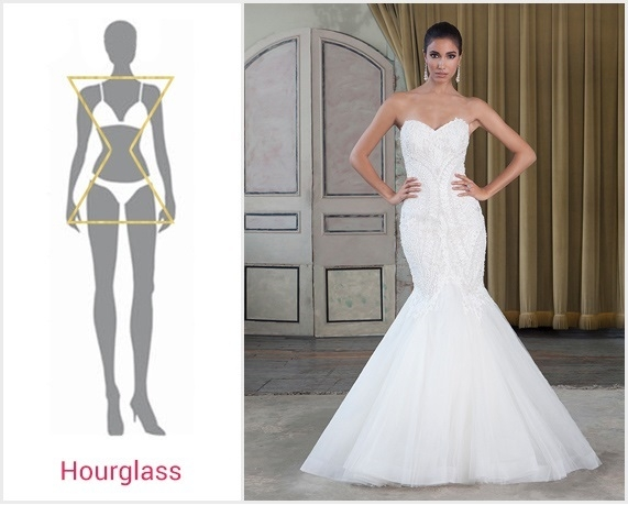 the best wedding dress for your body type bridalpulse Wedding Dresses For Hourglass Figures