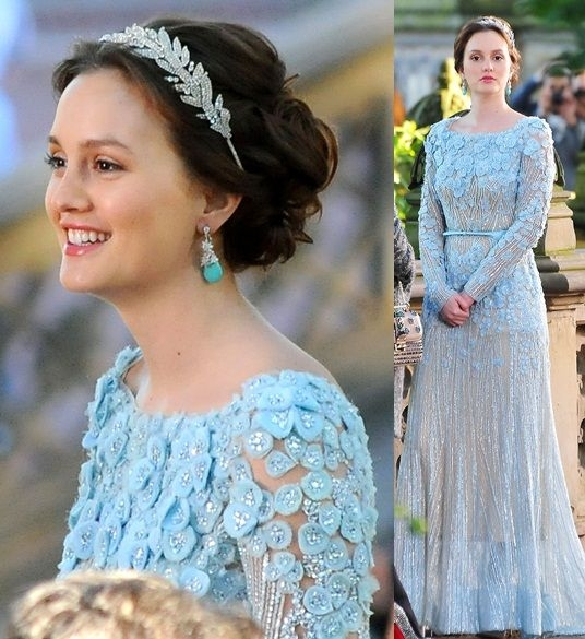 this is blairs wedding dress from the series finale of Blair Waldorf Wedding Dress