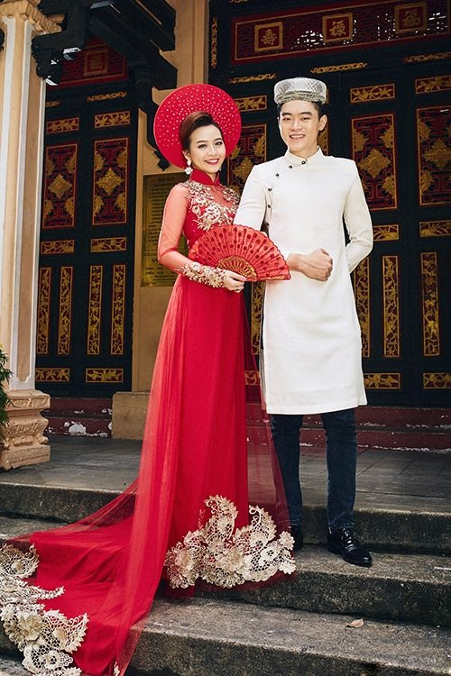 traditional ao dai new trend for vietnam wedding dress Traditional Vietnamese Wedding Dress