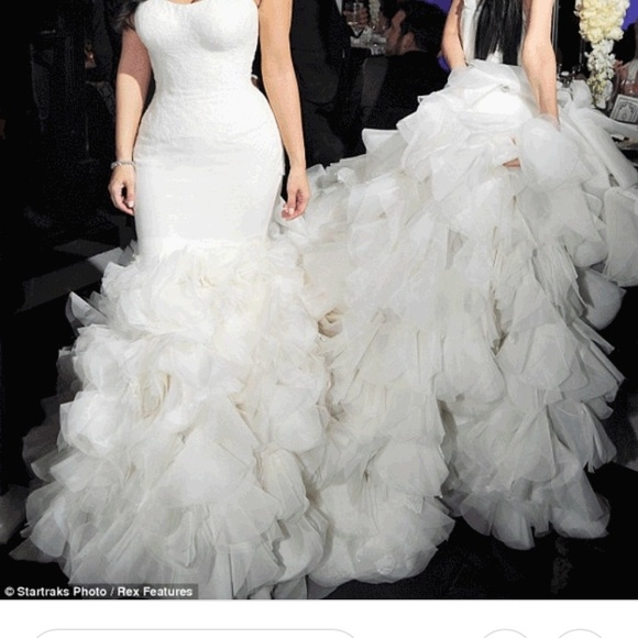 vera wang wedding dress mermaid kim kardashian nwt Vera Wang Kim Kardashian Wedding Dress