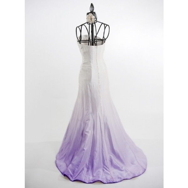 wedding dress dyeing service ombre dye in purple wedding Wedding Dress Dyeing Service