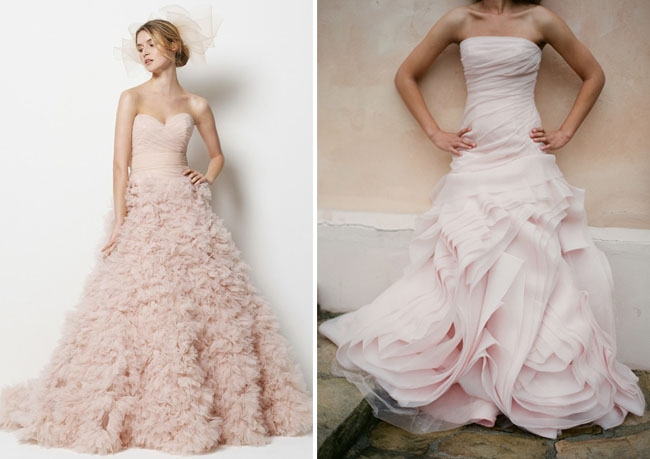 wedding dresses with a touch of color pink wedding dresses Pink Wedding Dress Davids Bridal