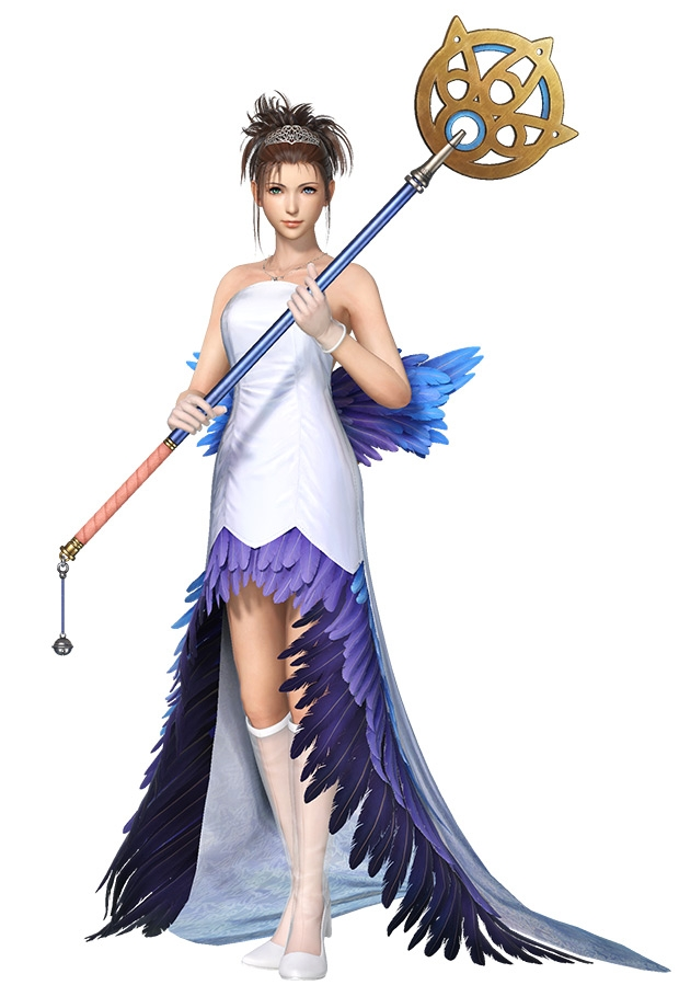 yuna wedding gown iii art dissidia final fantasy nt art Yuna Wedding Dress