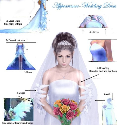 yunas dress broken down final fantasy artwork yuna Yuna Wedding Dress