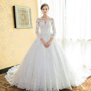 zh0566f best selling wedding dress in the word shoulder sleeve trailing white embroidered lace wedding dress buy bell sleeve lace wedding dresslong Alibaba Wedding Dresses