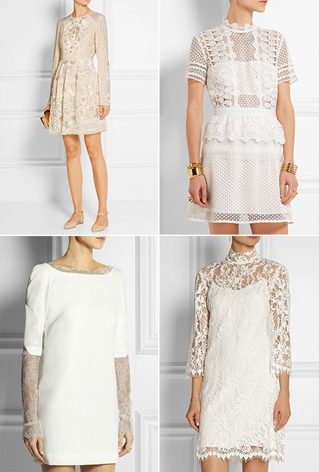 17 short wedding dresses you can buy now for your courthouse Court House Wedding Dresses
