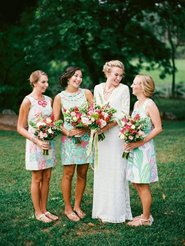3 ways to style a lilly pulitzer wedding bridesmaid Lilly Pulitzer Wedding Dresses