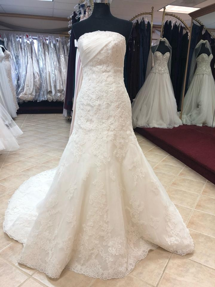 anjolique ivory lace fit and flare formal wedding dress size 4 s 88 off retail Anjolique Wedding Dresses