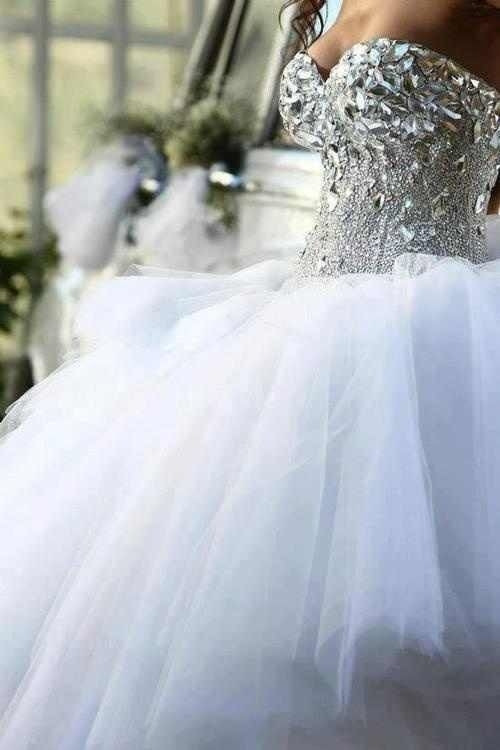 bedazzled bodice ball gown weddingdress ball gowns Bedazzled Wedding Dresses