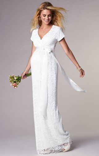 bridget maternity wedding gown long ivory maternity Tiffany Rose Maternity Wedding Dress
