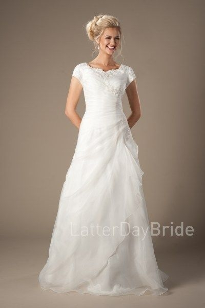 cheap modest wedding dresses the drummond with ruching and Inexpensive Modest Wedding Dresses