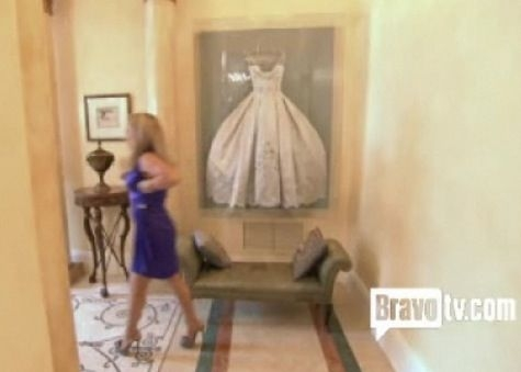 cool way to display wedding dress built in shadow box for Adrienne Maloof Wedding Dress Framed
