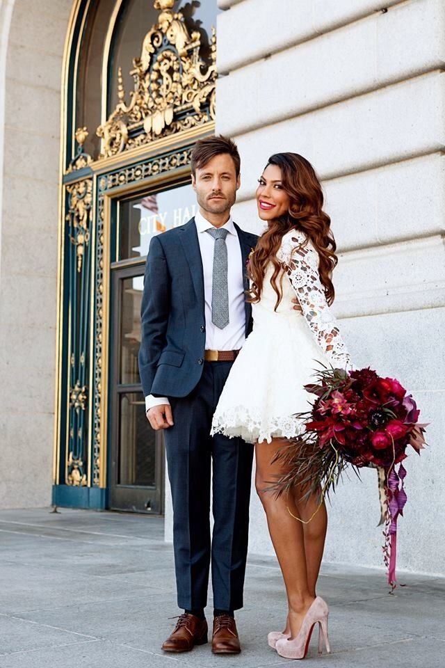 courthouse chic wedding dress dreamerslovers Court House Wedding Dresses