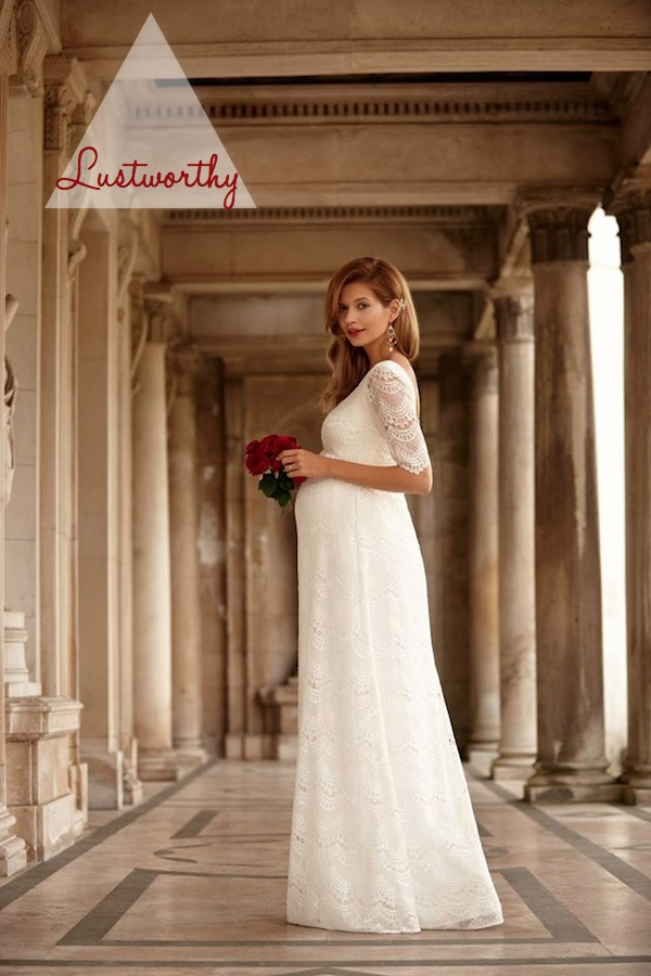crush of the week tiffany rose maternity bridal ss15 the Tiffany Rose Maternity Wedding Dress