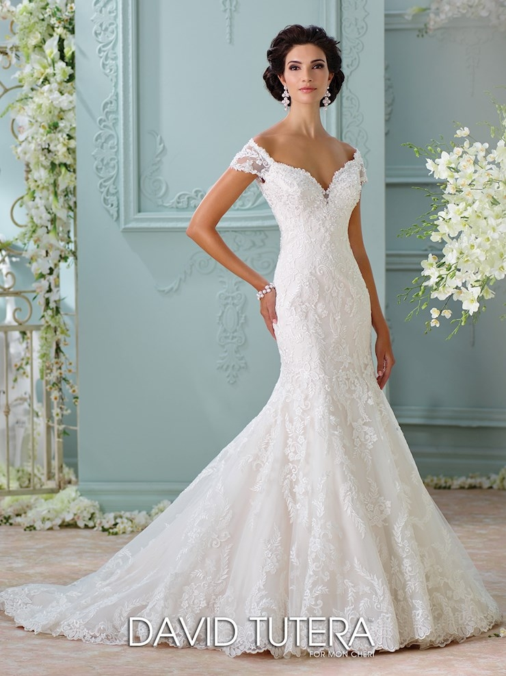 david tutera for mon cheri bridal dresses regiss David Tutera For Mon Cheri Wedding Dresses
