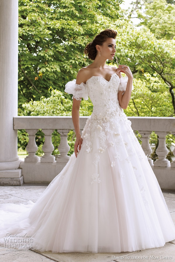 david tutera for mon cheri wedding dresses spring 2012 David Tutera For Mon Cheri Wedding Dresses
