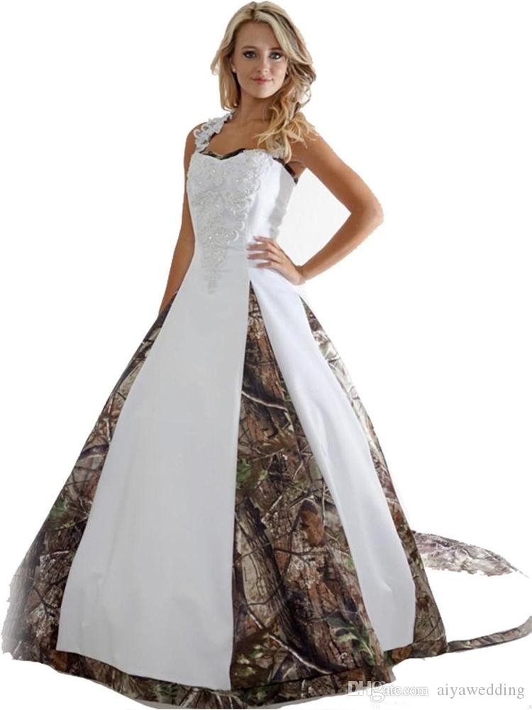 discount new camo wedding dresses with appliques ball gown long camouflage wedding party dress plus size bridal gowns wedding dresses under 1000 Camo Wedding Dresses Pictures