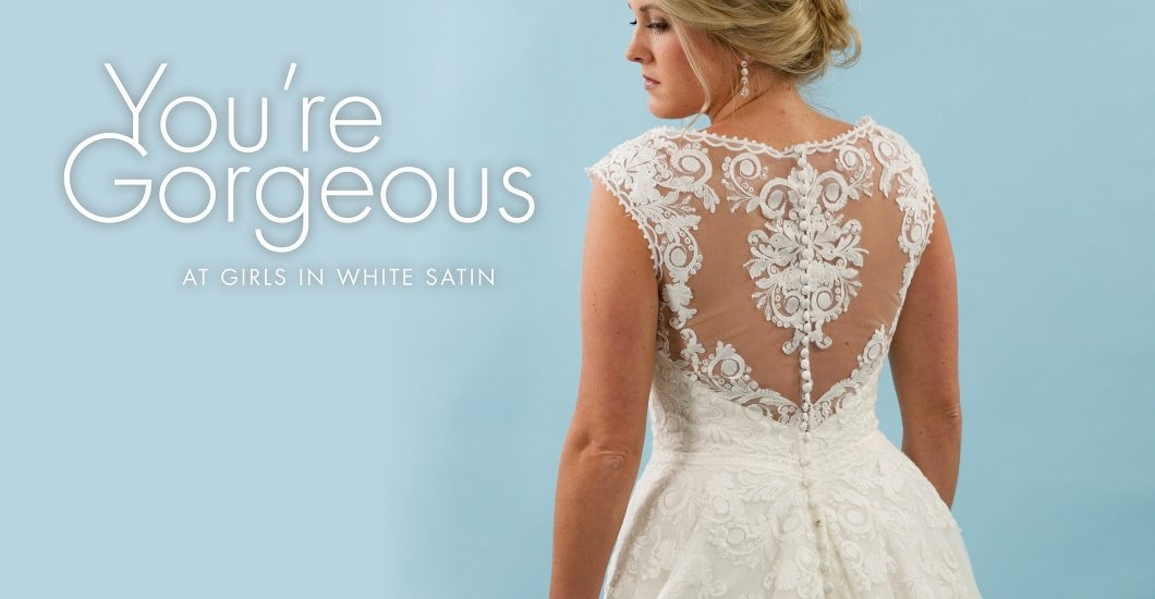 girls in white satin bridal formal wear for central illinois Wedding Dresses Springfield Il