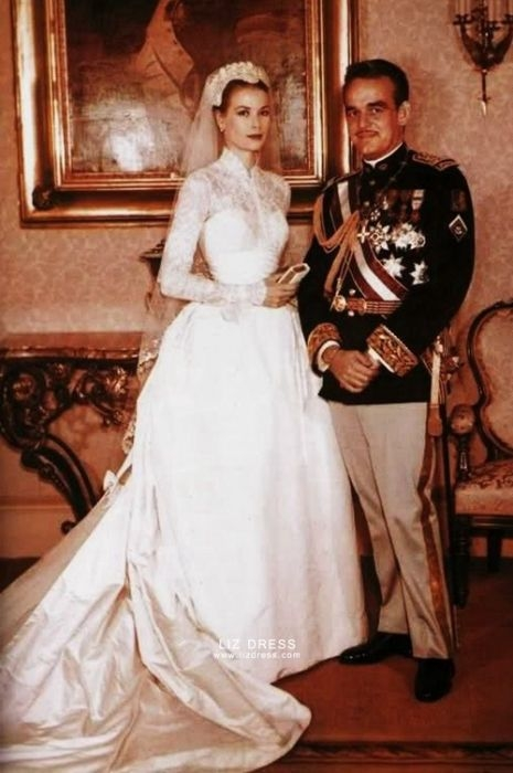 grace kelly inspired celebrity wedding dress bridal gown Grace Kellys Wedding Dress