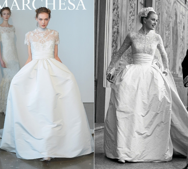 grace kellys wedding dress inspires marchesas spring 2015 Grace Kellys Wedding Dress