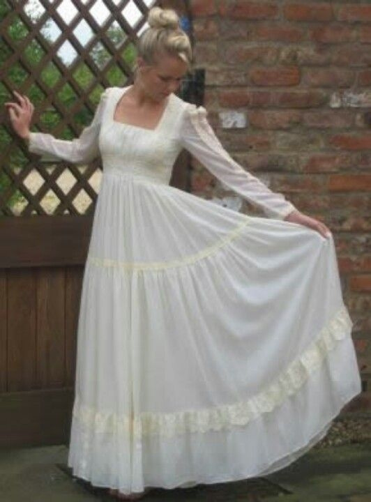 gunnysack dresses epitome of dress up as a kid loved these Gunny Sack Wedding Dress