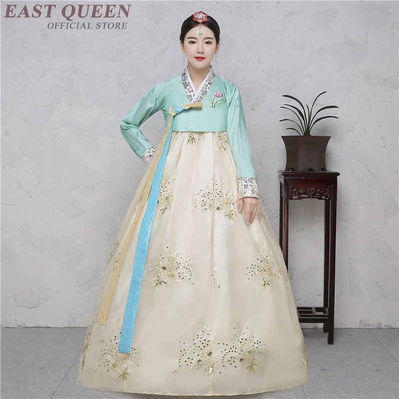 hanbok korean national costume korean traditional dress cosplay korean hanbok wedding dress performance clothing hanbok kk2259 Hanbok Wedding Dress