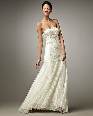 hot sue wong embellished beaded strapless lace pleated skirt wedding dress gown ebay Sue Wong Wedding Dress
