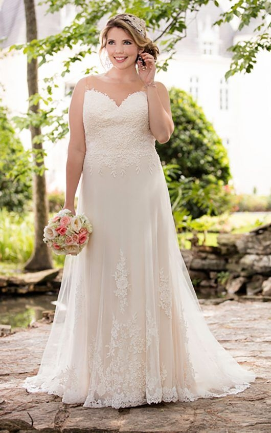 illusion lace french tulle wedding dress in 2019 wedding Plus Size Wedding Dresses St Louis