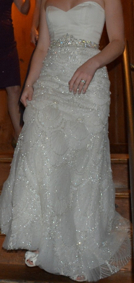 kenneth pool ivory sequins and silk estelle vintage wedding dress size 2 xs 68 off retail Kenneth Pool Estelle Wedding Dress