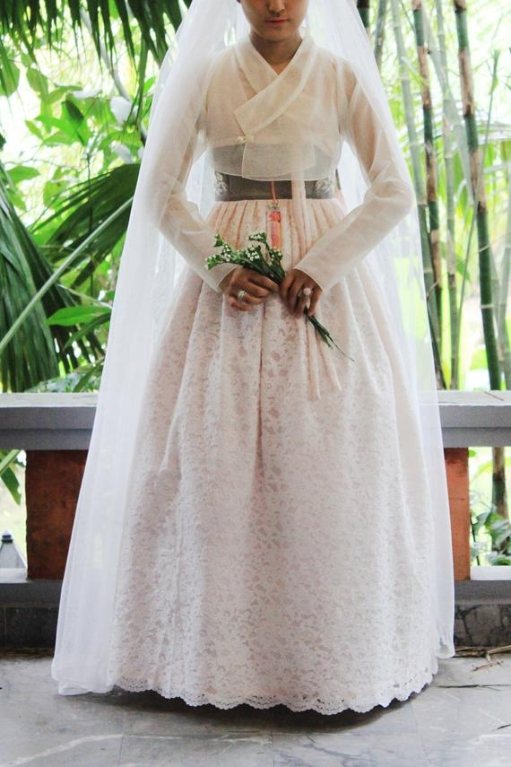 lace hanbok dress Hanbok Wedding Dress