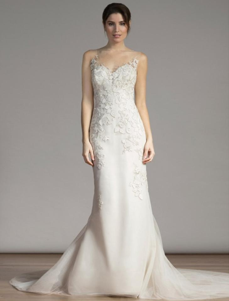 liancarlo ivory italian guipure lace tulle 6855 formal wedding dress size 10 m 47 off retail Guipure Lace Wedding Dress