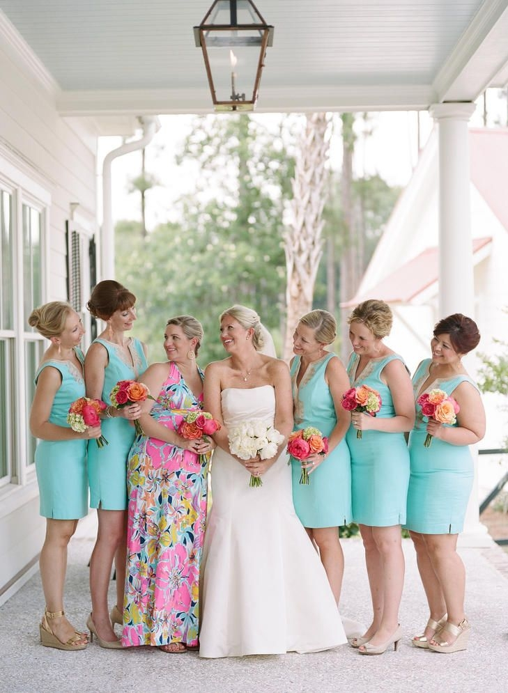lilly pulitzer bridesmaid dresses turquoise bridesmaid Lilly Pulitzer Wedding Dresses