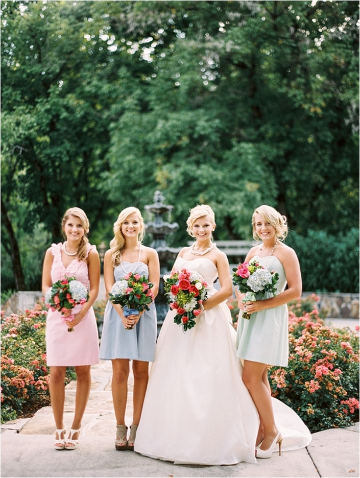 lilly pulitzer wedding style shoot bride link Lilly Pulitzer Wedding Dresses