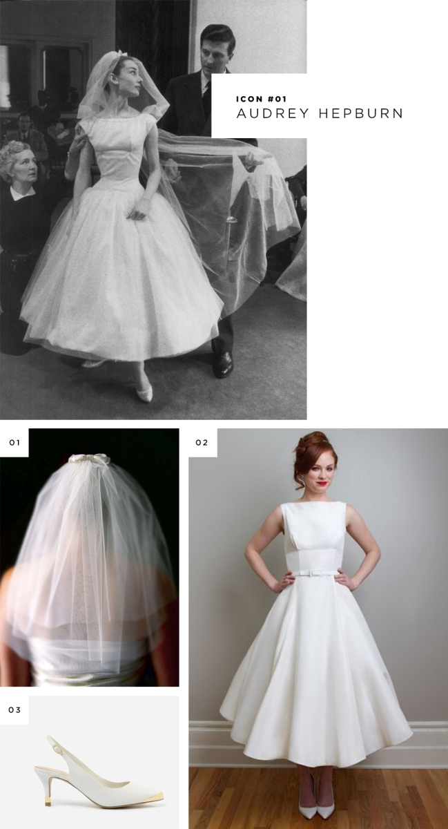 modern takes on iconic wedding dresses verily Audrey Hepburn Inspired Wedding Dresses