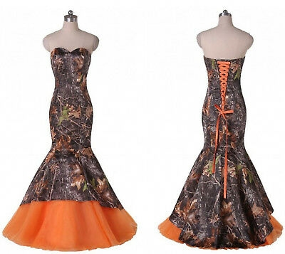 new mermaid camo wedding dresses formal camouflage lace up bridal gowns custom ebay Camo Wedding Dresses Pictures