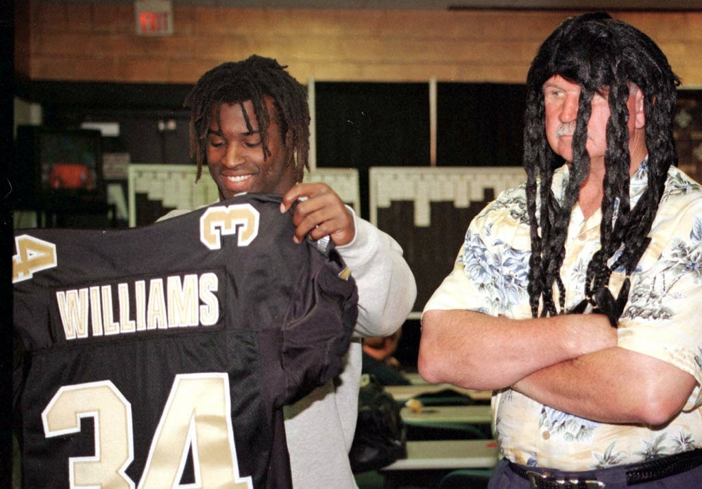 nfl mike ditkas trade for ricky williams remains Ricky Williams Wedding Dress