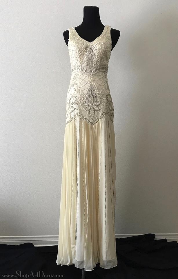 sue wong cream 1920s style gown w5203 vintage wedding dress size 2 xs 59 off retail Sue Wong Wedding Dress