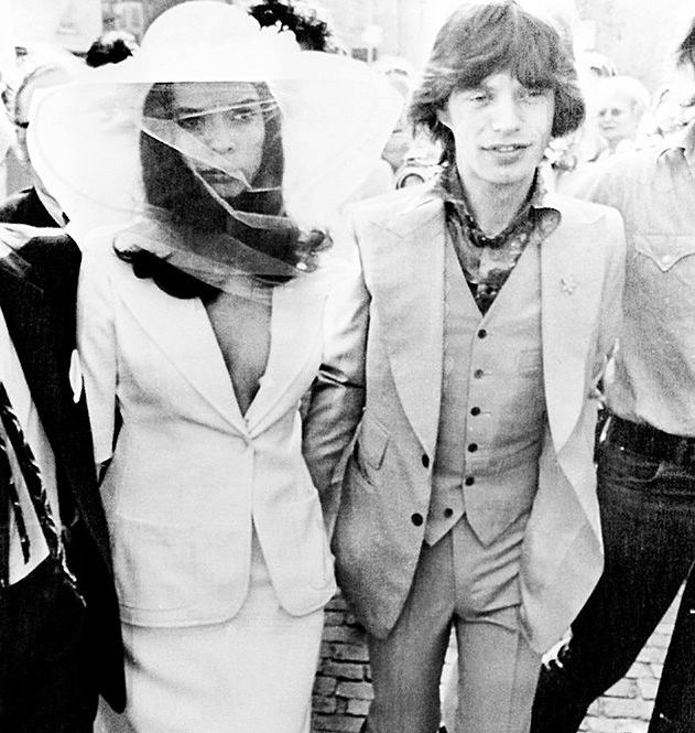 the most iconic wedding dresses of all time Bianca Jagger Wedding Dress