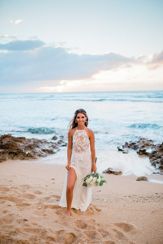 this oahu bride made three wedding cakes herself in a Wedding Dresses Oahu